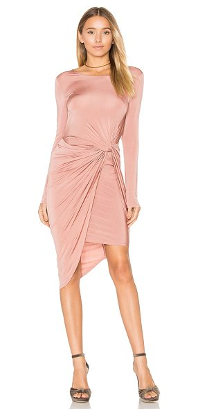 ASTR the Label Janice Dress in blush - 95% viscose 5% spandex. Dry clean only. Partially lined....