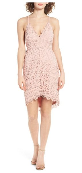 ASTR the Label lace body-con dress in blush - Pretty floral lace and openwork stitches deliver a touch...