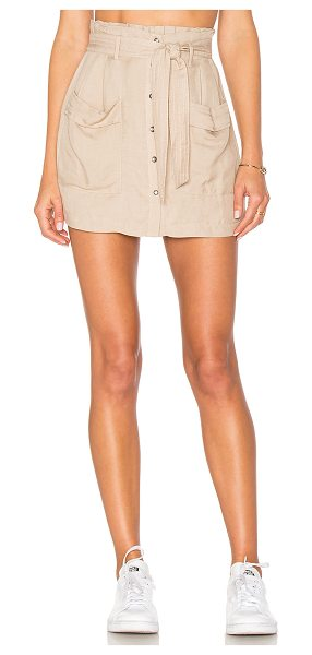 ASTR the Label Mimi Skort in taupe - 64% tencel 36% linen. Dry clean only. Elasticized waist....