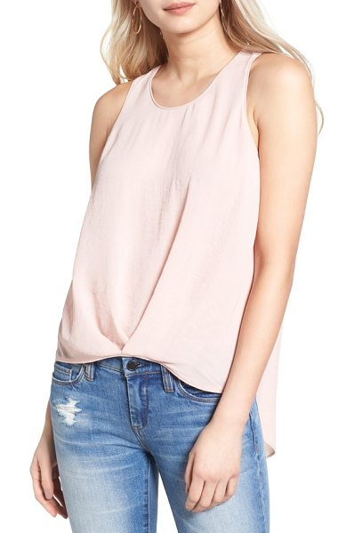 ASTR the Label textured high/low tank in dusty pink - Artfully rumpled and gathered in front, this drapey,...