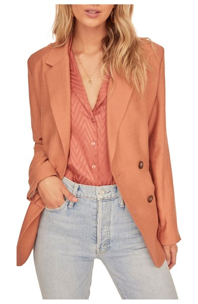 ASTR the Label allegra double breasted blazer in coral