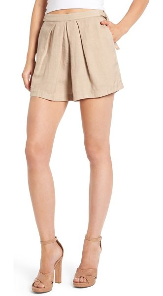 ASTR the Label audrey shorts in taupe - Primed for breezy summer style, these lightweight...