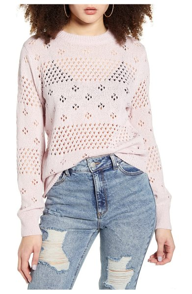 ASTR the Label belle pointelle sweater in pink