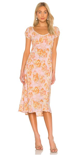 ASTR the Label caprice dress in pink papaya floral