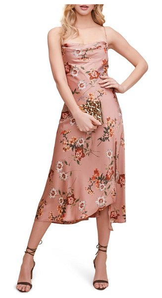 ASTR the Label cowl neck midi dress in pink
