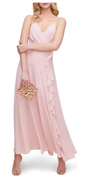 ASTR the Label floral ruffle detail maxi dress in pink