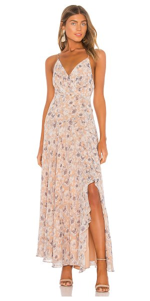 ASTR the Label holland dress in peach grey floral