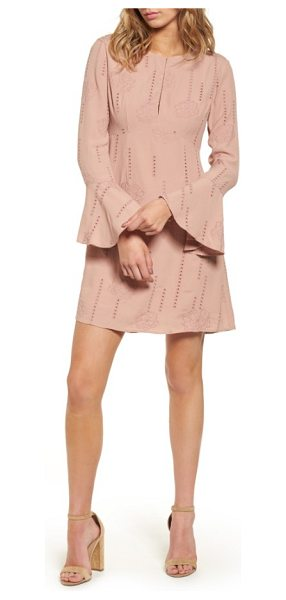 ASTR the Label isadora bell sleeve dress in mauve - Pretty insets of open stitching further the charm of...