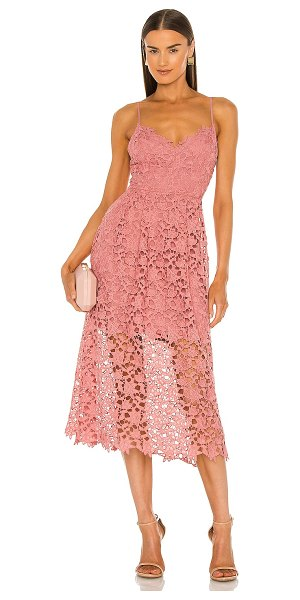 ASTR the Label lace a-line midi dress in pink mauve