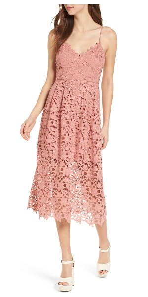 ASTR the Label lace midi dress in pink