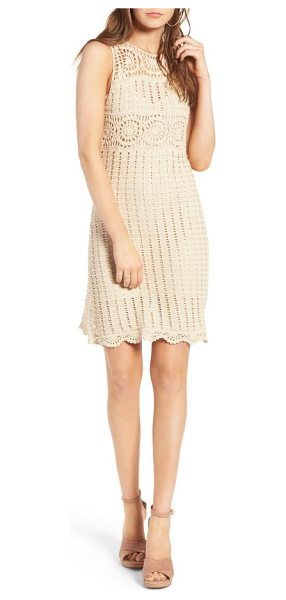ASTR the Label maya crochet dress in natural - The summery minidress offers bohemian romance with its...