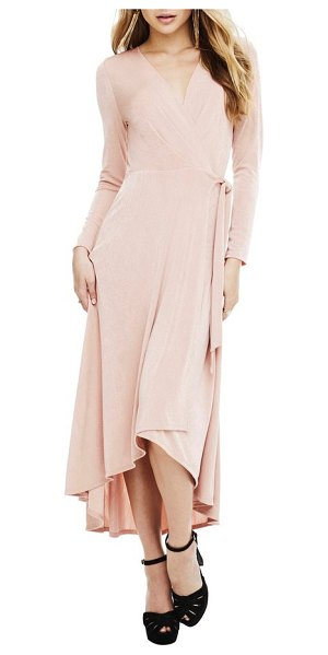 ASTR the Label melonie wrap dress in blush - It's hard to go wrong with the always-flattering wrap...