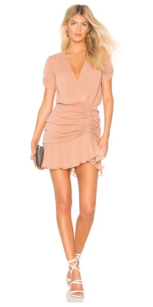 ASTR THE LABEL Natasha Dress in mauve - Poly blend. Dry clean only. Fully lined. Surplice...