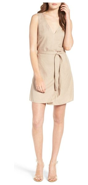 ASTR the Label odette linen dress in taupe - Lightweight linen and clean lines inspire a sense of...