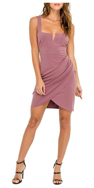 ASTR the Label ruched minidress in pink - A ruched, wrap-style skirt adds dynamic movement to this...