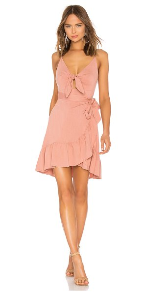 ASTR THE LABEL Sandy Dress in rose - 95% rayon 5% elastane. Dry clean only. Partially lined....
