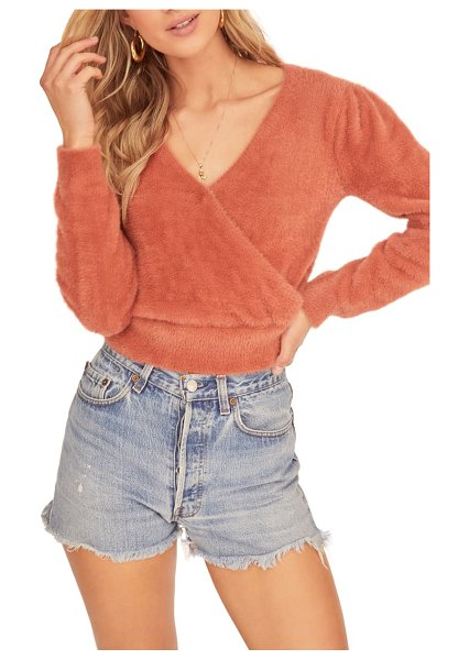 ASTR the Label sheresa sweater in coral