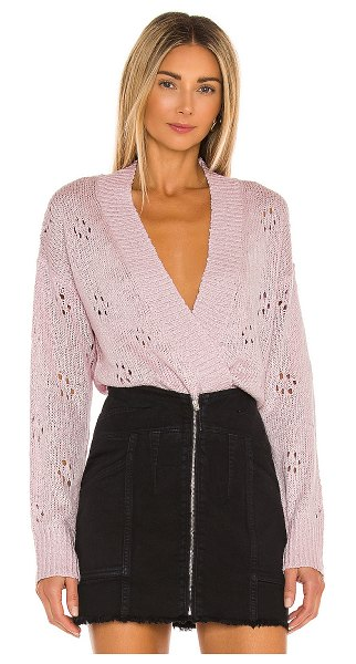 ASTR the Label stephanie sweater in pale pink
