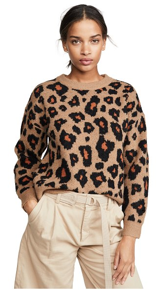 ASTR the Label tobin sweater in brown leopard