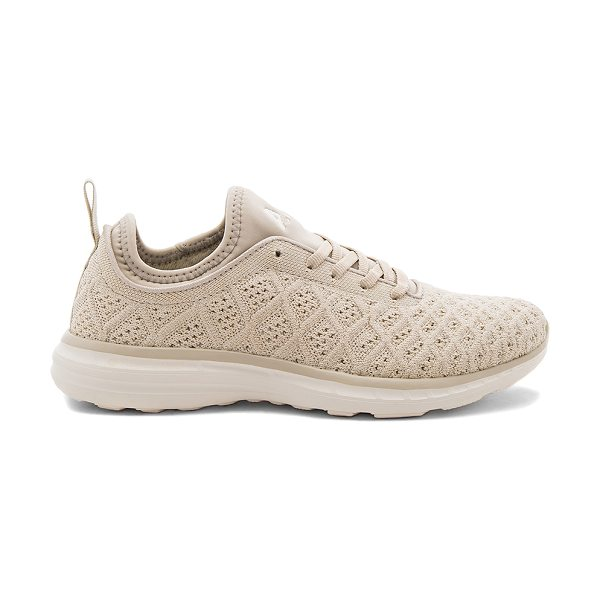 APL: ATHLETIC PROPULSION LABS Techloom Phantom Sneaker in beige - Textile upper with rubber sole. Lace-up front....