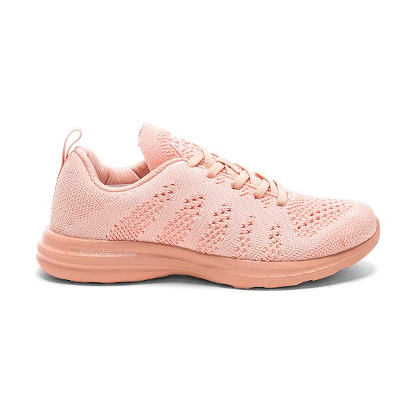 APL: Athletic Propulsion Labs TechLoom Pro Sneaker in blush - Knit textile upper with rubber sole. Lace-up front....