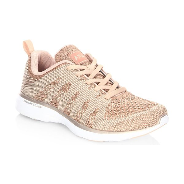 APL: Athletic Propulsion Labs techloom pro cashmere sneakers in rosegold
