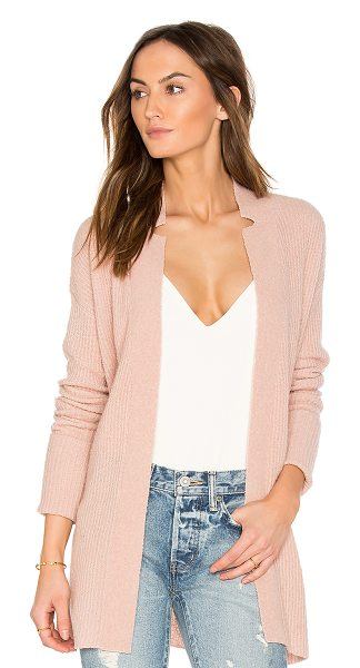 ATM Anthony Thomas Melillo Belted Cardigan in blush - Cashmere blend. Dry clean only. Waist tie front closure....