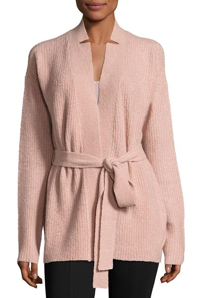 ATM Anthony Thomas Melillo Cashmere Blend Belted Cardigan Sweater in pink - ATM Anthony Thomas Melillo cardigan in cashmere-blend....