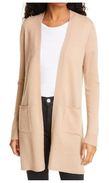 ATM Anthony Thomas Melillo cashmere open cardigan in beige