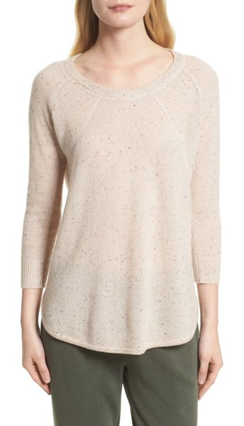 ATM Anthony Thomas Melillo cashmere sweater in natural donegal - Known for elevated basics, Tony Melillo masters casual...