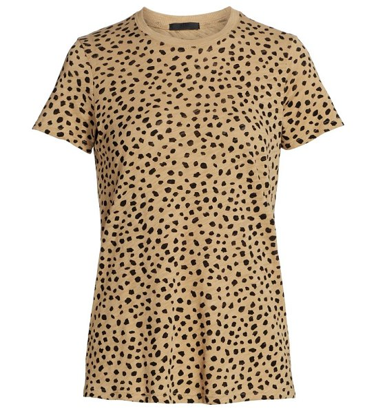 ATM Anthony Thomas Melillo cheetah print slub jersey t-shirt in camel black