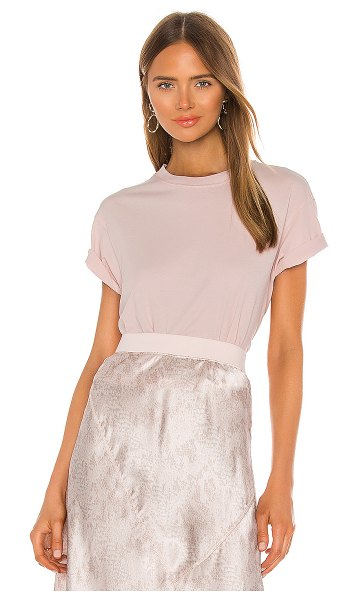 ATM Anthony Thomas Melillo classic jersey short sleeve boy tee in pale pink