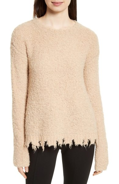 ATM Anthony Thomas Melillo destroyed hem sweater in tan - Like an old favorite you can't stop wearing, this soft...