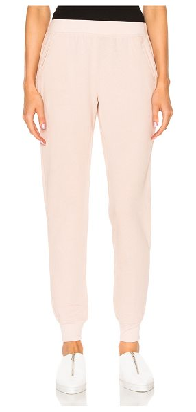 ATM Anthony Thomas Melillo French Terry Slim Sweat Pant in blush - 83% cotton 17% poly. Made in Peru. Machine wash. Elastic...