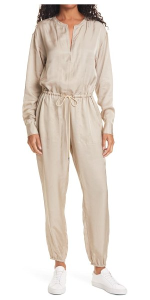ATM Anthony Thomas Melillo long sleeve jogger jumpsuit in brown