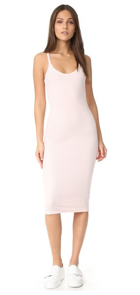 ATM Anthony Thomas Melillo modal rib scooped v dress in english rose - A racer-back ATM Anthony Thomas Melillo dress crafted in...