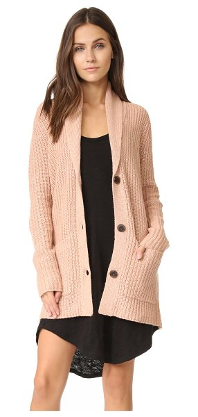 ATM Anthony Thomas Melillo Shawl collar sweater coat in ginger - A ribbed knit ATM Anthony Thomas Melillo cardigan,...