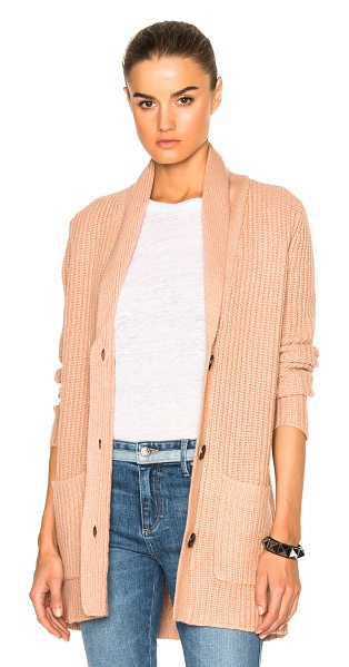 ATM Anthony Thomas Melillo Shawl Collar Sweater in pink - 33% viscose 23% nylon 20% wool 20% cotton 4% cashmere. ...