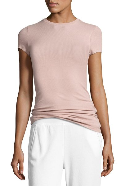ATM Anthony Thomas Melillo Short-Sleeve Ribbed Stretch Jersey Tee in pink - ATM Anthony Thomas Melillo ribbed tee in stretch jersey....