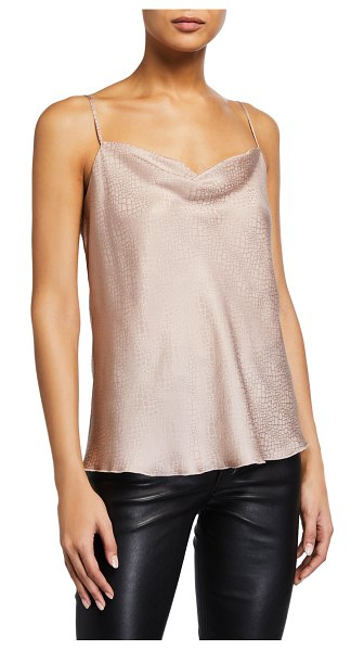 ATM Anthony Thomas Melillo Silk Jacquard Reptile Cami in light pink