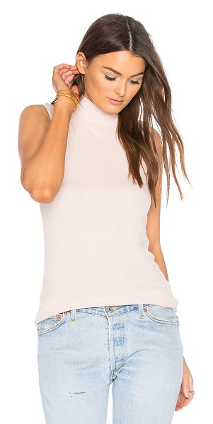 ATM Anthony Thomas Melillo Sleeveless Mock Neck Top in pink - 96% micro modal 4% spandex. Hand wash cold. Rib knit...