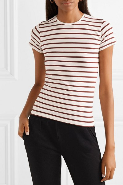 ATM Anthony Thomas Melillo striped stretch-pima cotton-jersey t-shirt in brown - ATM Anthony Thomas Melillo's T-shirt is made from...