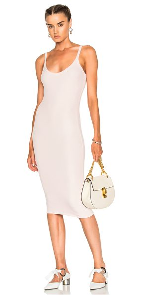 ATM ANTHONY THOMAS MELILLO V Dress in english rose - 96% micromodal 4% spandex. Made in Peru. Hand wash....