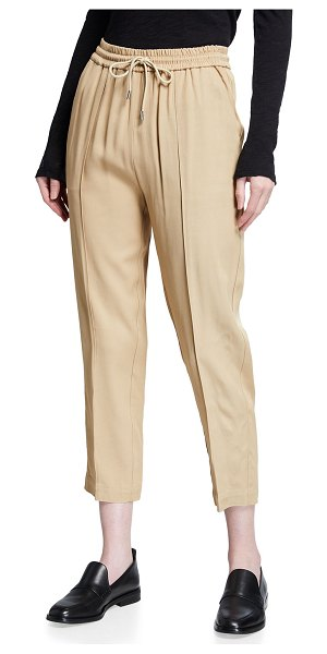 ATM Anthony Thomas Melillo Viscose Twill Cropped Pull-On Pants in dune