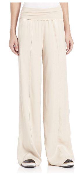 ATM Anthony Thomas Melillo wide leg yoga pants in almond - Breezy yoga pants lends an all-day comfort. Dropped...