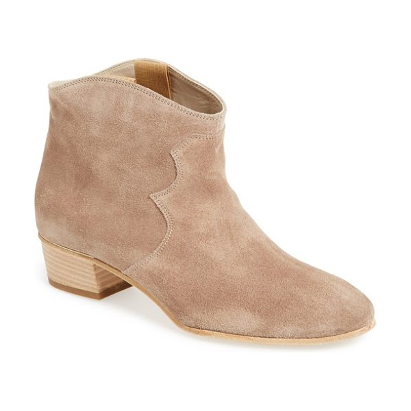 Attilio Giusti Leombruni kick boot in taupe suede - Clean, minimalist lines add modern refinement to a...