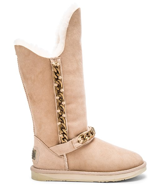 Australia Luxe Collective Maverick boot in beige - Suede upper with rubber EVA sponge sole. Dyed sheepskin...