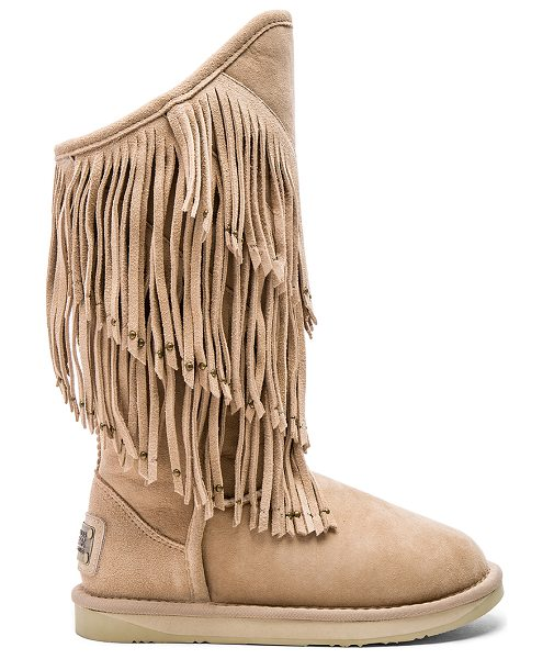 AUSTRALIA LUXE COLLECTIVE Neilina boot - Suede upper with rubber EVA sponge sole. Dyed sheepskin...