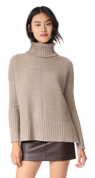 AUTUMN CASHMERE boxy shaker cowl - A boxy silhouette lends effortless drape to this ribbed...