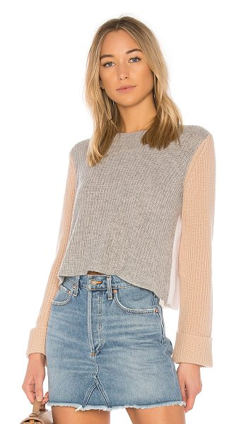 AUTUMN CASHMERE Color Block Sweater - 100% pure cashmere. Dry clean only. Rib knit fabric....
